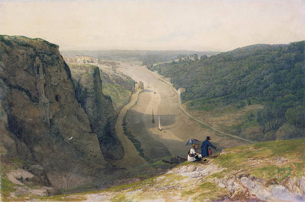 The Poster featuring the painting The Avon Gorge - Looking Over Clifton by Francis Danby