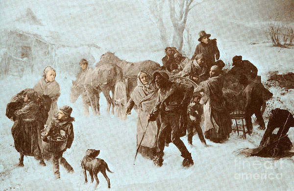 America Poster featuring the photograph The Underground Railroad by Photo Researchers