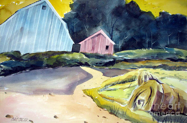 Landscape Poster featuring the painting Turn In The Road by Charlie Spear
