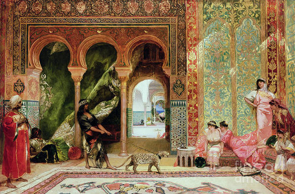 Royal Poster featuring the painting A Royal Palace In Morocco by Benjamin Jean Joseph Constant