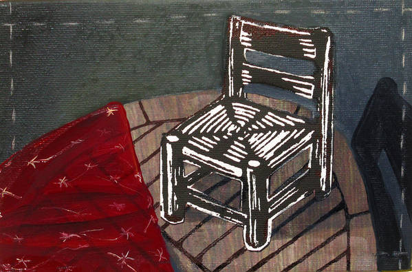 Chair Poster featuring the mixed media Chair II by Peter Allan