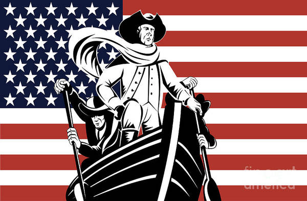American Revolution Poster featuring the digital art George Washington by Aloysius Patrimonio