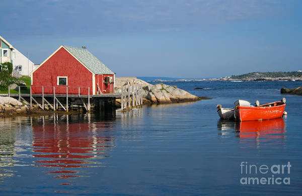 Peggy's Cove Poster featuring the photograph Peggys Cove by Thomas Marchessault