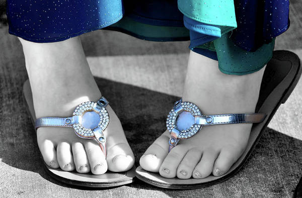 Foot Poster featuring the photograph Play Footsie by Karen M Scovill