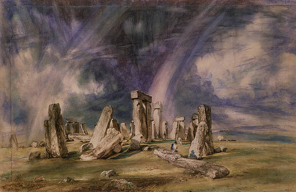 Stonehenge Poster featuring the painting Stonehenge by John Constable