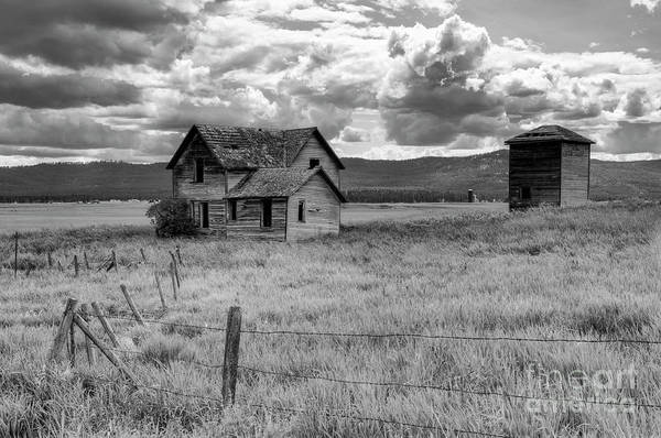 Black And White Poster featuring the photograph Storm Over Big Sky Montana by Sandra Bronstein