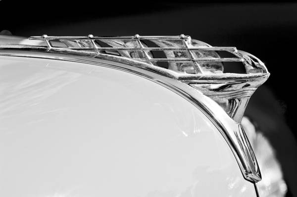 1950 Plymouth Hood Ornament Poster featuring the photograph 1950 Plymouth Hood Ornament by Jill Reger