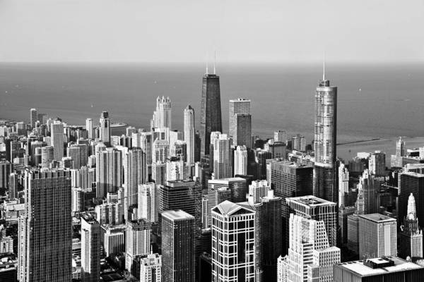Aerial Poster featuring the photograph Chicago - That Famous Skyline by Christine Till