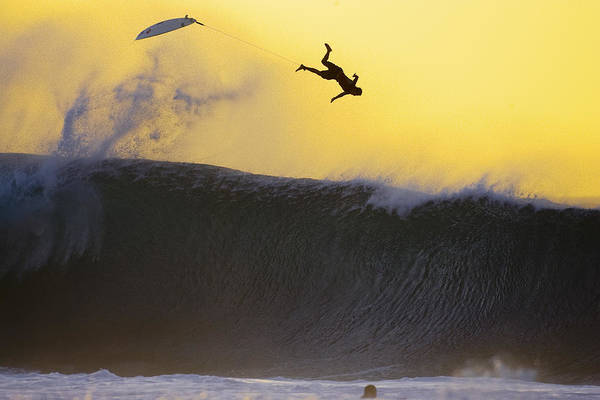 Surfing Poster featuring the photograph Gold Leap by Sean Davey
