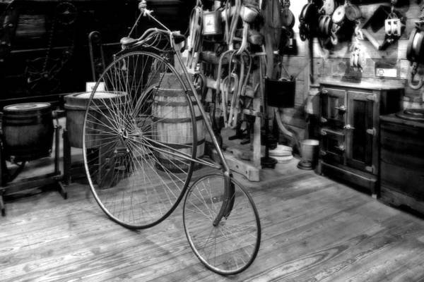 Penny Poster featuring the photograph High Wheel 'penny-farthing' Bike by Christine Till
