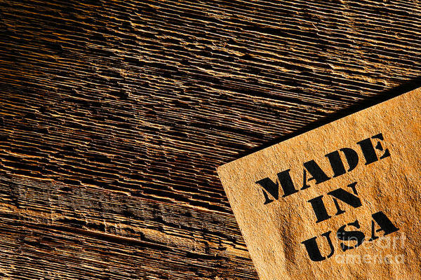 Made In Usa Poster featuring the photograph Made In Usa by Olivier Le Queinec