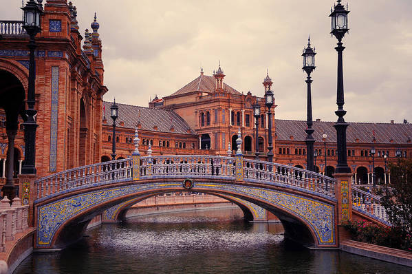 Seville Poster featuring the photograph Plaza De Espana. Seville by Jenny Rainbow