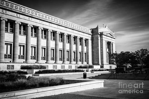 America Poster featuring the photograph The Field Museum In Chicago In Black And White by Paul Velgos