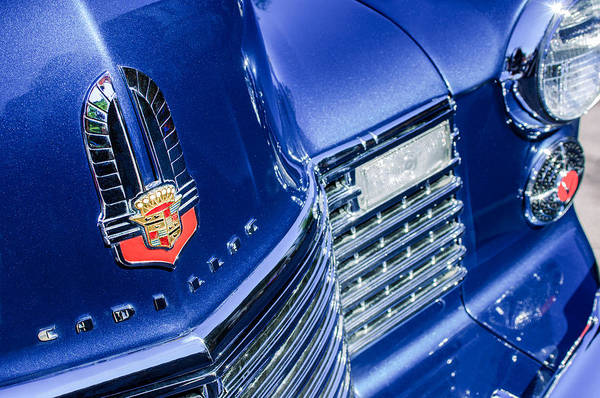 1941 Cadillac Emblem Poster featuring the photograph 1941 Cadillac Emblem by Jill Reger