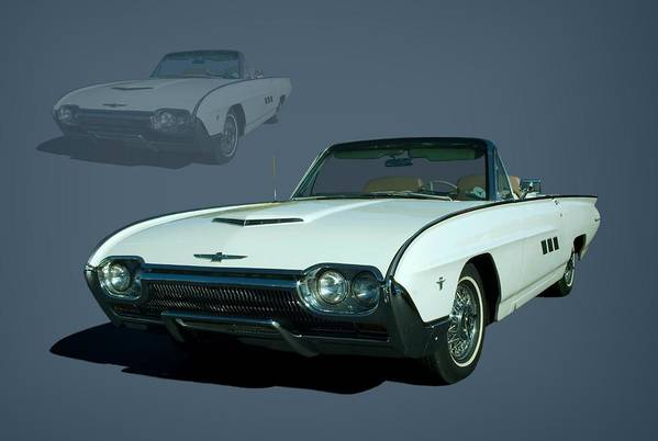 1963 Poster featuring the photograph 1963 Ford Thunderbird Convertible by Tim McCullough