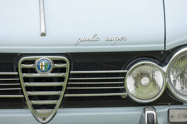 1968 Alfa Romeo Giulia Super Poster featuring the photograph 1968 Alfa Romeo Giulia Super Grille by Jill Reger