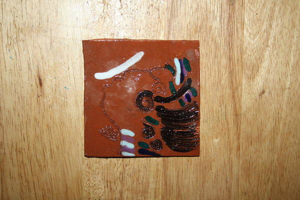 Jesus Poster featuring the ceramic art Bella - Tile by Gloria Ssali