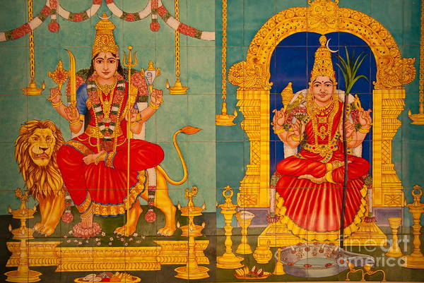 Hinduism Poster featuring the photograph Hindu God by Niphon Chanthana