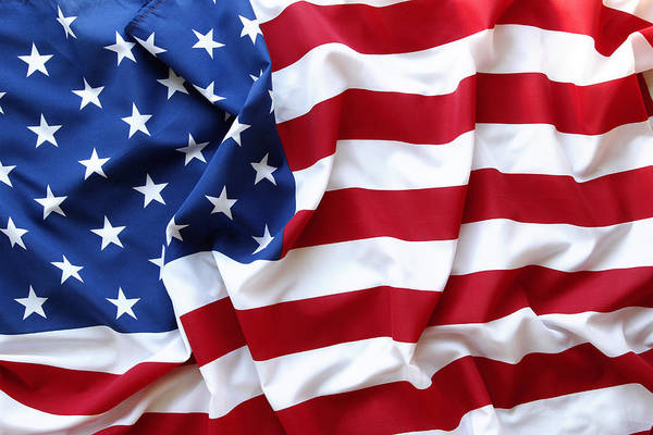 Flag Poster featuring the photograph Usa Flag by Les Cunliffe