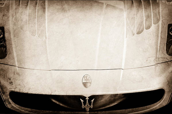 2005 Maserati Mc12 Hood Ornament Poster featuring the photograph 2005 Maserati Mc12 Hood Ornament by Jill Reger