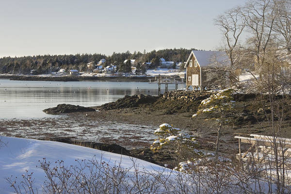 Maine Poster featuring the photograph South Bristol On The Coast Of Maine by Keith Webber Jr