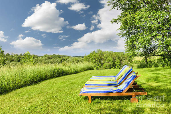 Chairs Poster featuring the photograph Summer Relaxing by Elena Elisseeva