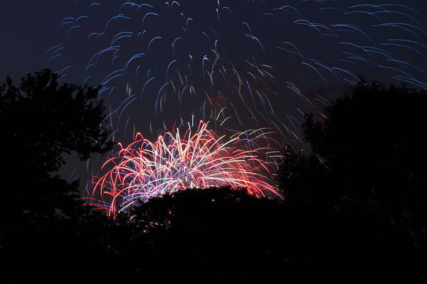 Washington Poster featuring the photograph 4th Of July Fireworks - 01135 by DC Photographer