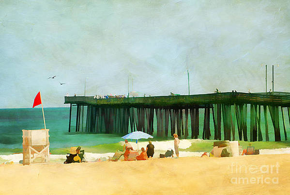 America Poster featuring the photograph A Day At The Beach by Darren Fisher