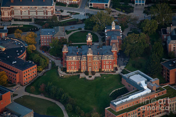 Woodburn Hall Poster featuring the photograph Aerial Of Woodburn Hall by Dan Friend