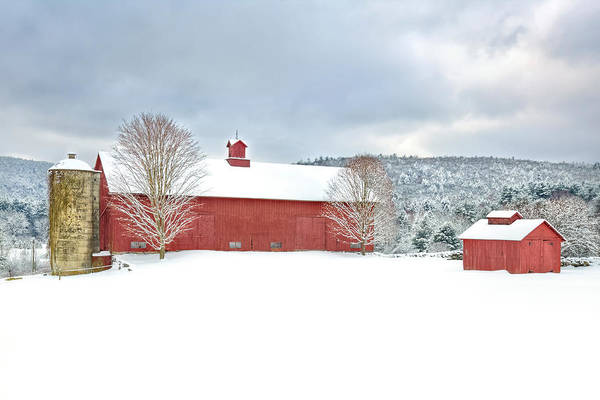 Red Barn Poster featuring the photograph After The Storm by Bill Wakeley