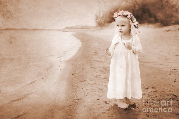 Childhood Poster featuring the photograph At The Waters Edge by Cindy Singleton