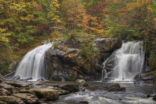 Appalachia Poster featuring the photograph Autumn Cascades by Debra and Dave Vanderlaan