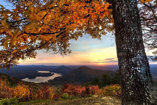 Appalachia Poster featuring the photograph Autumn Lake by Debra and Dave Vanderlaan