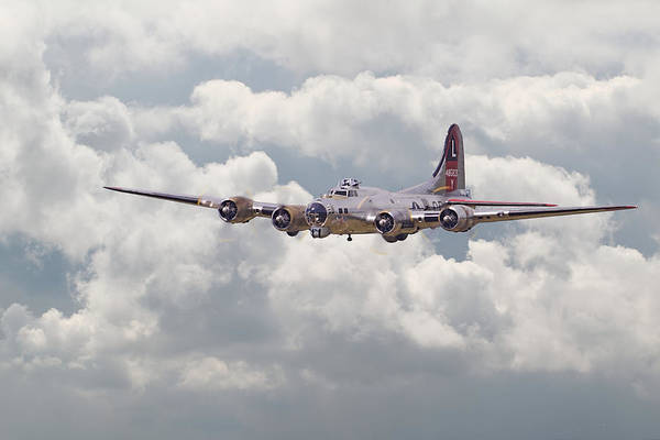 Aircraft Poster featuring the digital art B17- Yankee Lady by Pat Speirs