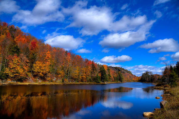 Adirondack's Poster featuring the photograph Bald Mountain Pond In Autumn by David Patterson