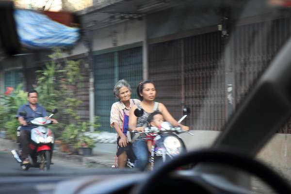 Bangkok Poster featuring the photograph Bikes - Bangkok Thailand - 01131 by DC Photographer