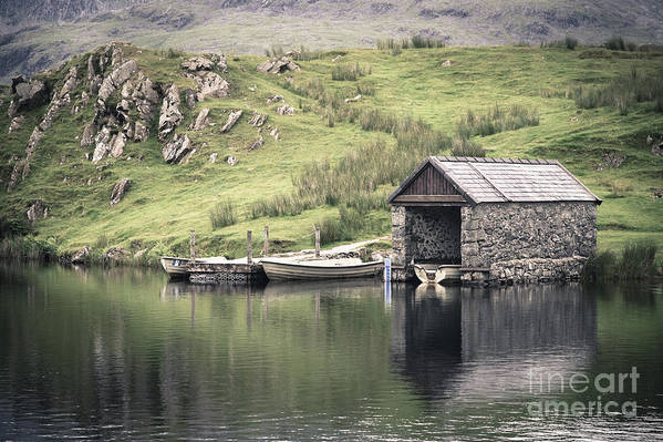 Boat Poster featuring the photograph Boathouse by Jane Rix