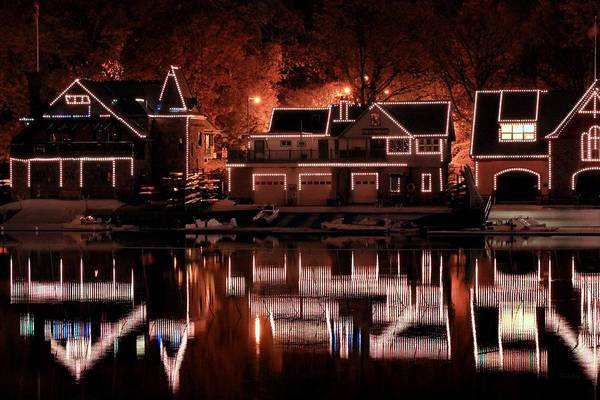Boathouse Poster featuring the photograph Boathouse Row Reflection by Deborah Crew-Johnson