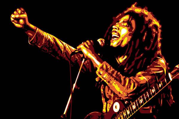 Bob Marley Poster featuring the digital art Bob Marley by DB Artist