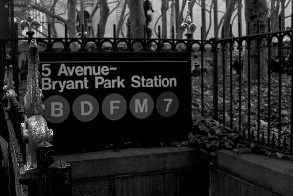 Building Poster featuring the photograph Bryant Park Station by Mike Horvath