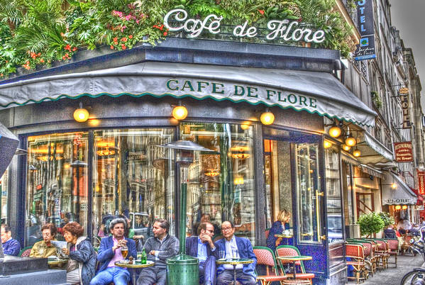 Architecture Poster featuring the photograph Cafe Flore In Summer by Matthew Bamberg