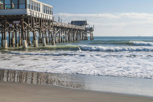 Catch Of The Day Cocoa Beach Pier Florida Seascape Poster featuring the photograph Catch Of The Day by Brian Harig