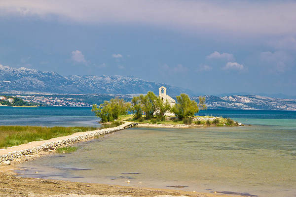 Croatia Poster featuring the photograph Chapel On Small Island In Posedarje by Brch Photography