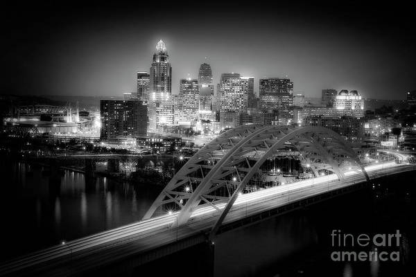Kim Poster featuring the photograph Cincinnati A New Perspective by Kimberly Nickoson