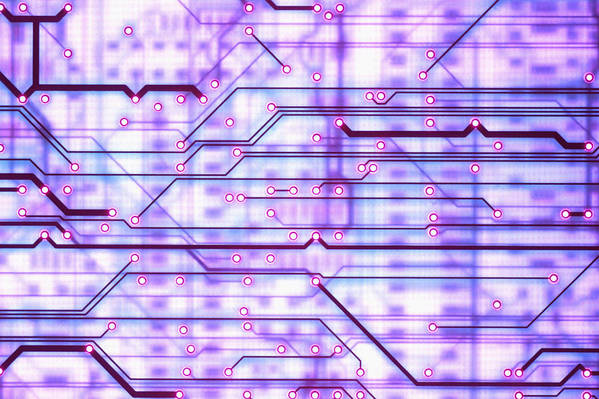 Printed Poster featuring the photograph Circuit Trace by Jerry McElroy
