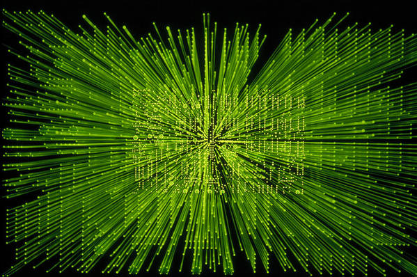 Green Poster featuring the photograph Circuit Zoom by Jerry McElroy