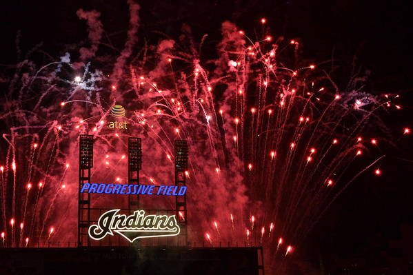 Cleveland Poster featuring the photograph Cleveland Indians by Frozen in Time Fine Art Photography