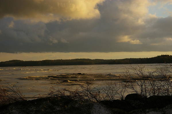 Waterscapes Poster featuring the photograph Coastal Winters Afternoon 3 by Amy-Elizabeth Toomey