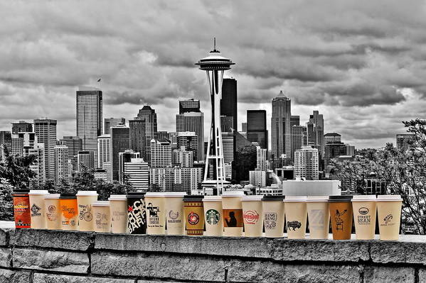 Seattle Poster featuring the photograph Coffee Capital by Benjamin Yeager