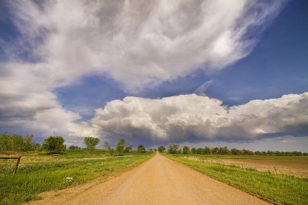 Road Poster featuring the photograph Colorado Country Road Stormin Skies by James BO Insogna